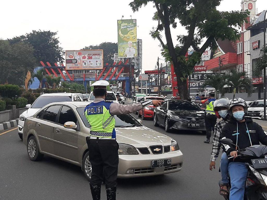 Dua Jam Ganjil Genap Kota Bogor Diberlakukan, Ribuan Kendaraan Diputar Balik