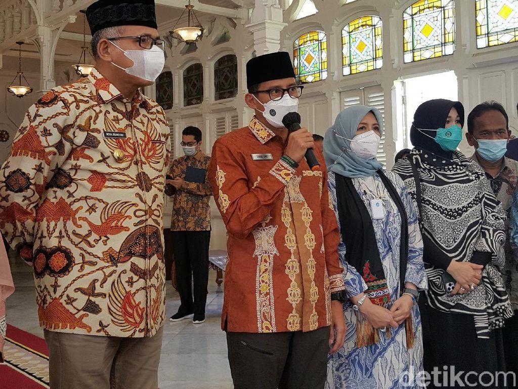 Datang ke Aceh, Sandiaga Bahas Investasi UEA-Kopi Gayo Go International