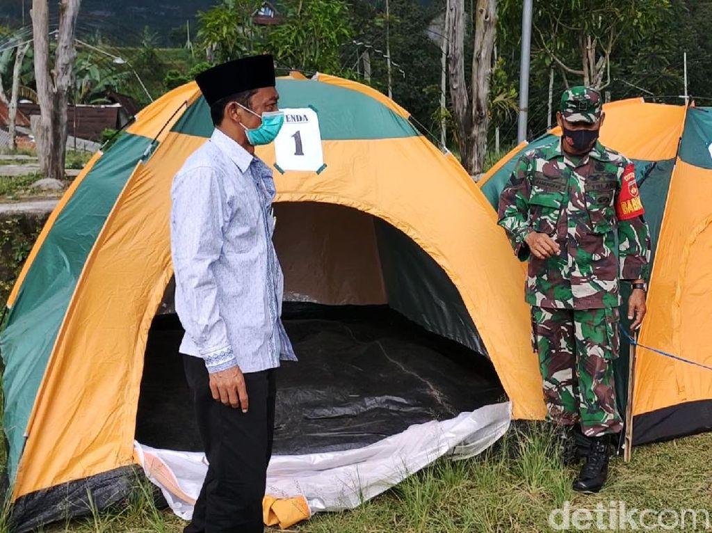 Penampakan Deretan Tenda untuk Karantina Pemudik di Karanganyar