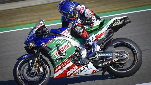 Alex Marquez di Kualifikasi MotoGP Spanyol 2021.
