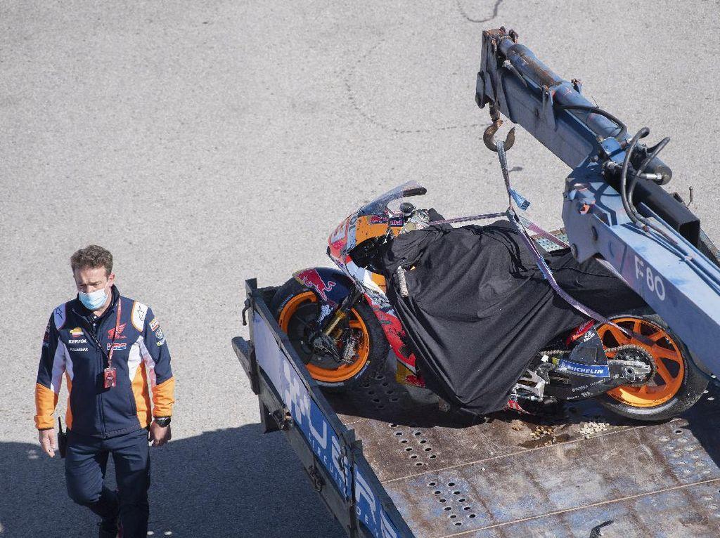 Ngeri! Marquez Crash Horor di Jerez, Selamat Gara-gara Hal Ini