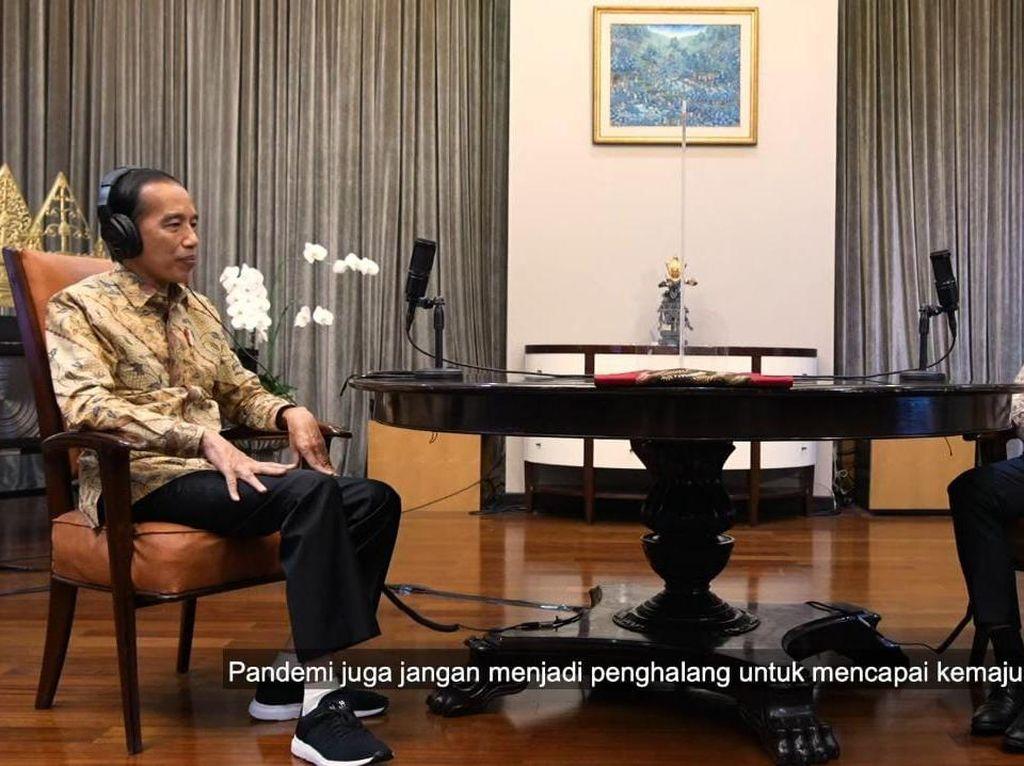 Jokowi Tanya Soal Belajar Online, Apa Jawab Nadiem?