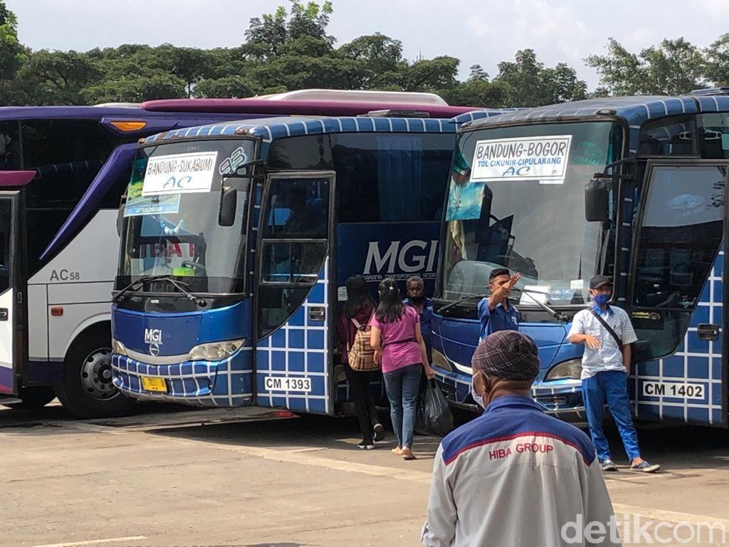 Kondisi Terminal Leuwi Panjang Bandung Jelang Larangan Mudik Lebaran