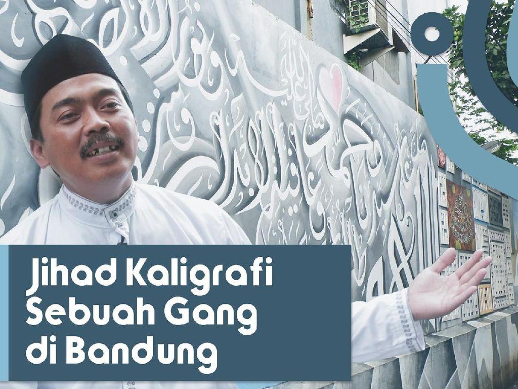 Dalang di Balik Mural Kaligrafi Gang Sempit Bandung