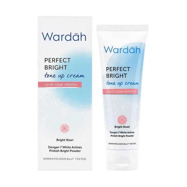 Wardah Perfect Bright Tone Up Cream memberi efek mencerahkan seketika/Blibli.com