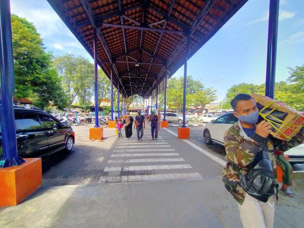4 Hari Jelang Mudik Dilarang, Penumpang Terminal Bungurasih Belum Ada Lonjakan