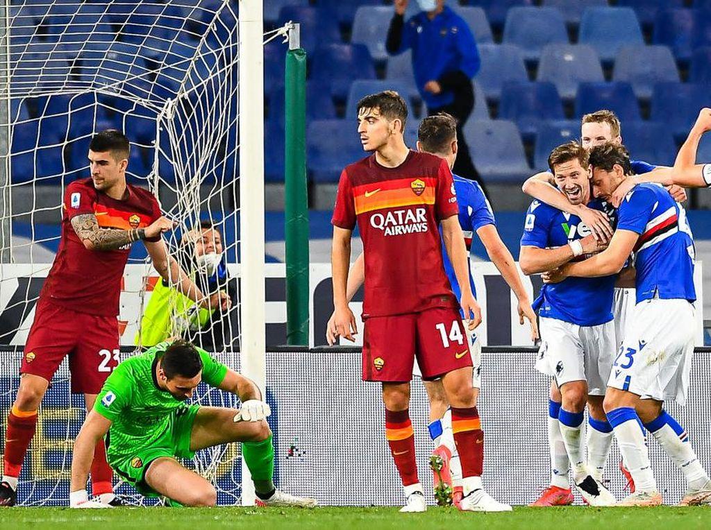 Sampdoria Vs Roma: Tumbang, Il Lupi Tak Bisa Finis di  4 Besar
