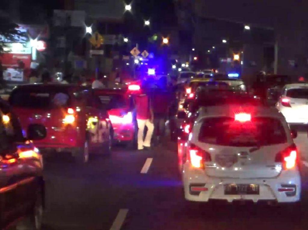 Konvoi Peserta Sahur On The Road di Makassar Dibubarkan Polisi