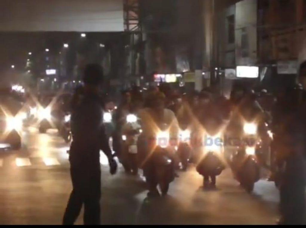 Puluhan Motor Konvoi SOTR di Bekasi Dibubarkan Polisi