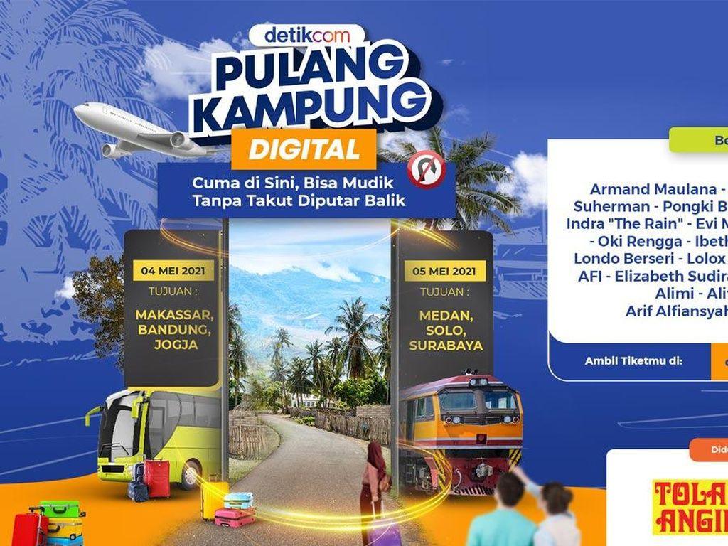 Hari Ini! Yuk Ikut Pulang Kampung Digital ke Medan, Solo, dan Surabaya