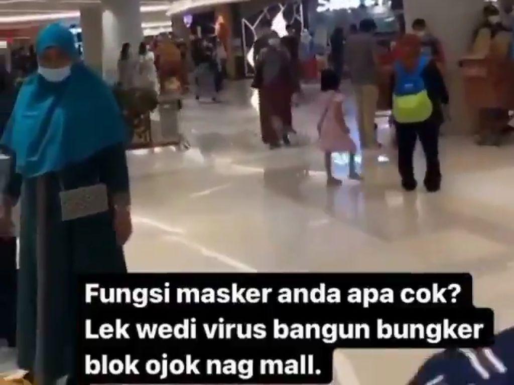 Viral Pria Membodohkan Pengunjung Mal Bermasker, Satgas: Tindak Tegas!