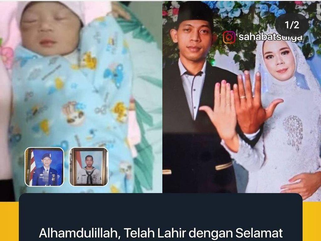 Istri Kru KRI Nanggala-402 di Kediri Melahirkan Seorang Putri