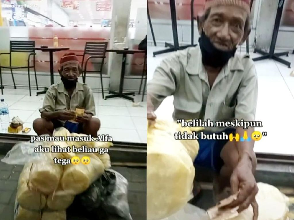 Kakek Penjual Kerupuk Ini Rela Tidur di Jalan Saat Dagangannya Tak Habis