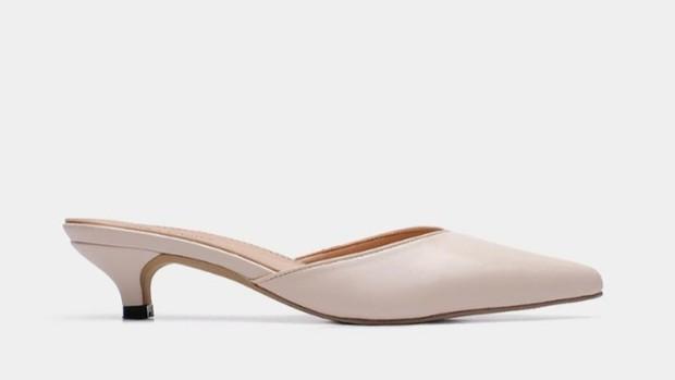Marie Ivori Kitten Heels Shoes.