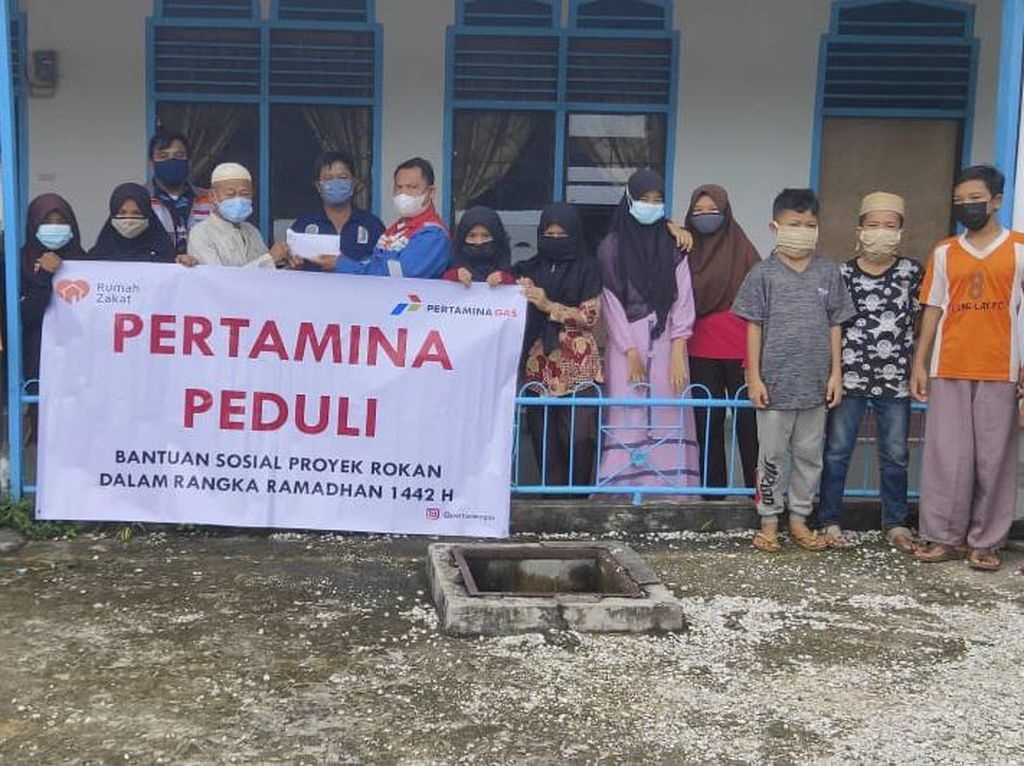 Pertamina Santuni Anak Yatim di Area Proyek Rokan Total Rp 140 Juta