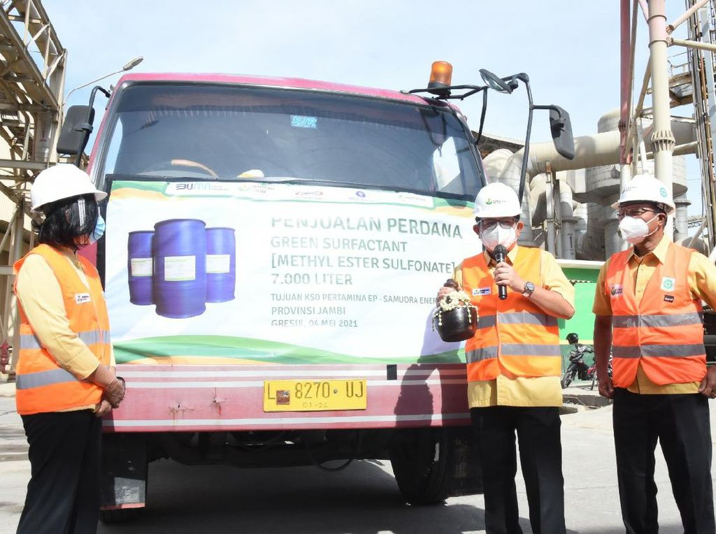 Petrokimia Gresik Kirim 7000 Liter Green Surfactant ke Pertamina EP Jambi