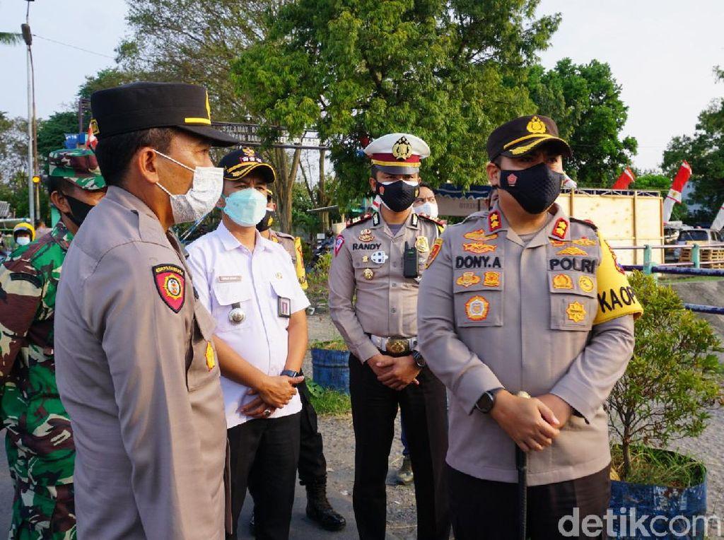 Polisi Tutup Jalur Tikus Mojokerto-Sidoarjo Selama Larangan Mudik