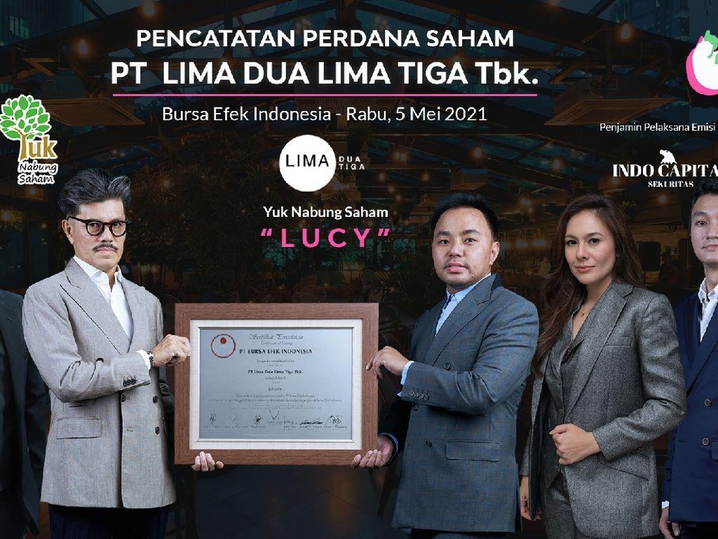 Saham Perdana Klub Malam Wulan Guritno Langsung Naik 10%