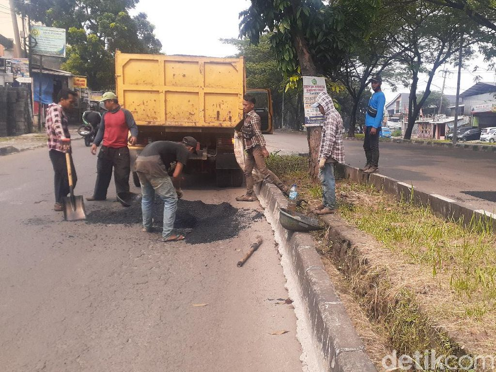 Aspal Datang, Perbaikan Jl Tegar Beriman Kabupaten Bogor Berlanjut