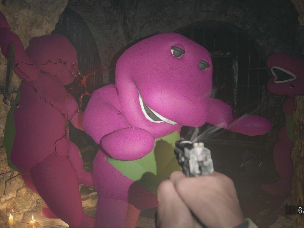 Resident Evil: Village Lawan Dinosaurus Barney, Eh Gimana?