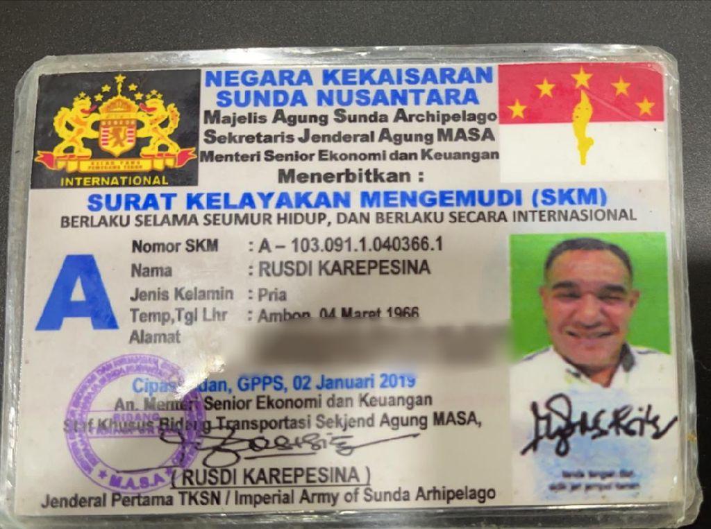 Sopir Negara Kekaisaran Sunda Nusantara Ngaku Berpangkat Jenderal