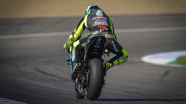 Valentino Rossi di Kualifikasi MotoGP Spanyol 2021.