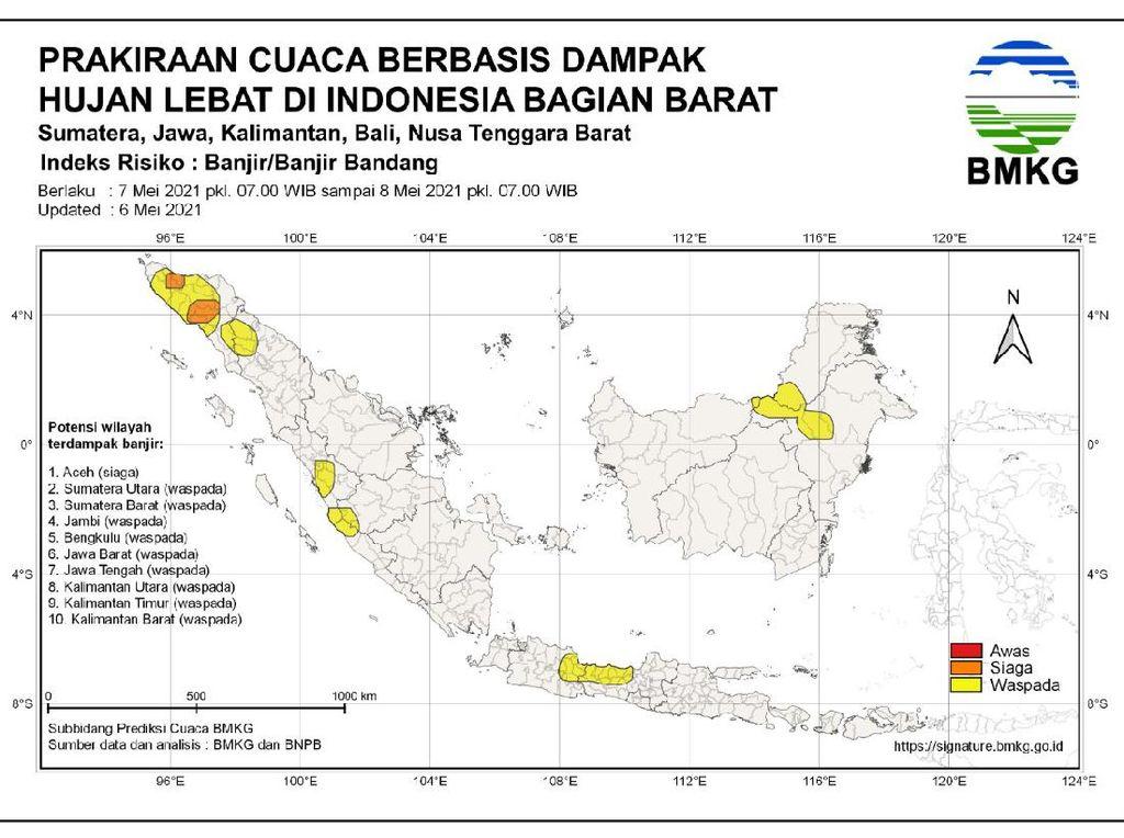 Catat! Sejumlah Daerah Ini Masih Berpotensi Hujan Lebat