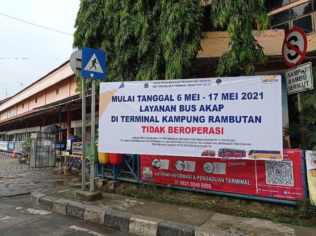 Mudik Lebaran Dilarang, Bus AKAP di Terminal Kp Rambutan Tak Beroperasi
