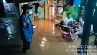 Puluhan Rumah di Cipinang Melayu Jaktim Terendam Banjir Malam Ini