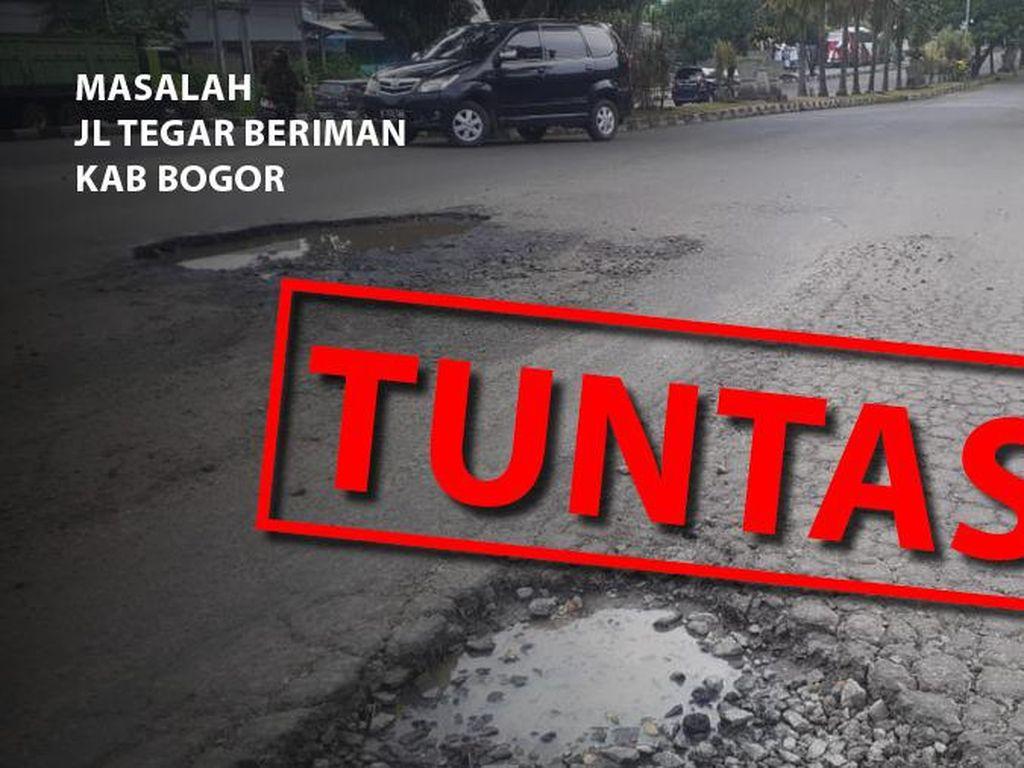 Before-after Perbaikan di Jl Tegar Beriman yang Rawan Kecelakaan