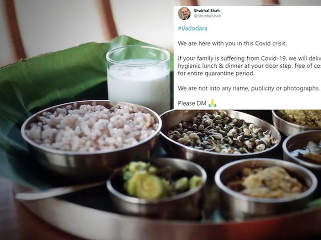 Mulia! Pria Ini Siap Sediakan Makanan Gratis untuk Pasien COVID-19 di India