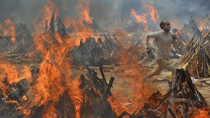 Kematian Corona India Cetak Rekor, WHO: Varian Mutan Ganda Pembawa 'Bencana'