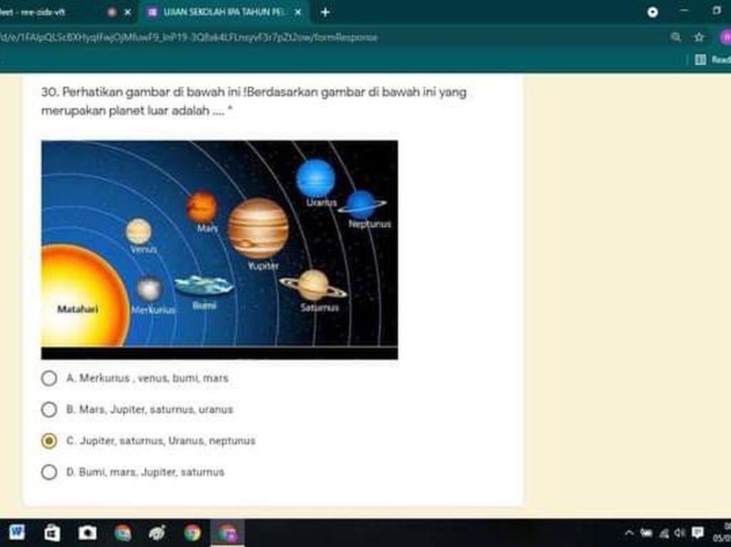 Geger Ilustrasi Bumi Datar di Soal Ujian Kelas 6 SD, Ini Kata Disdik Cimahi