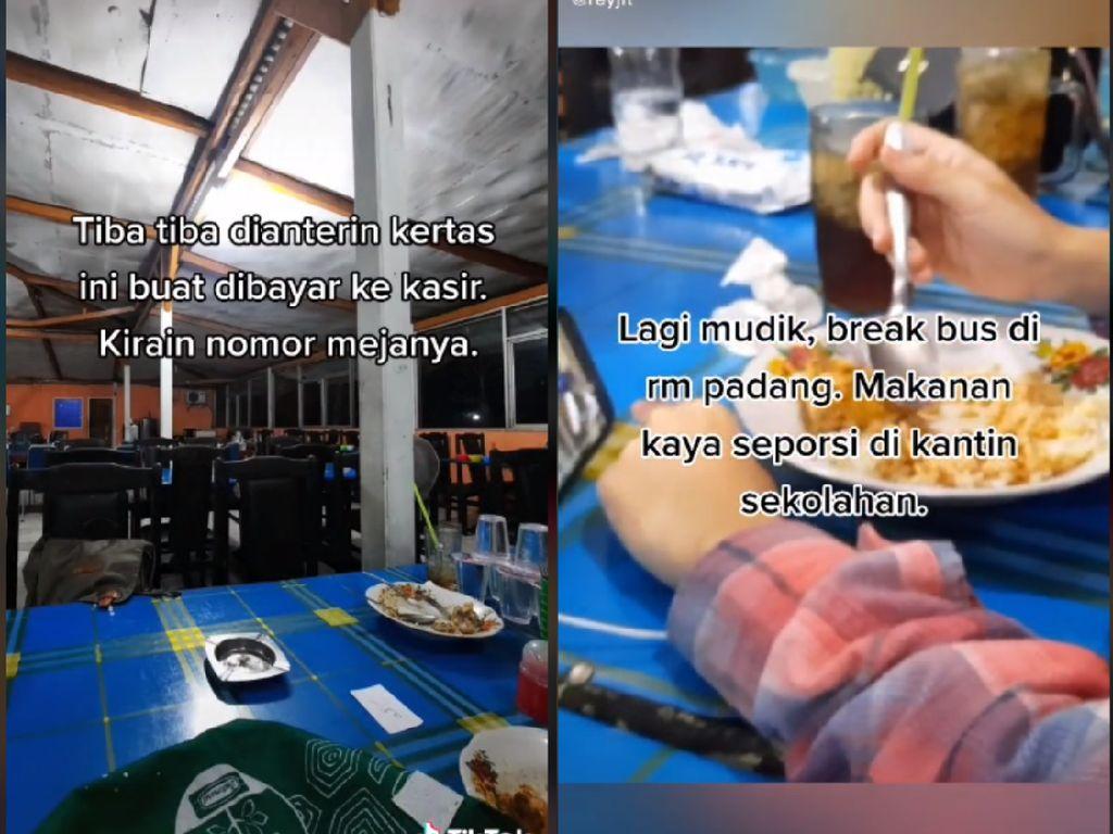 Duh! Pria Ini Protes kena Getok Harga saat Makan di Warung Makan Padang