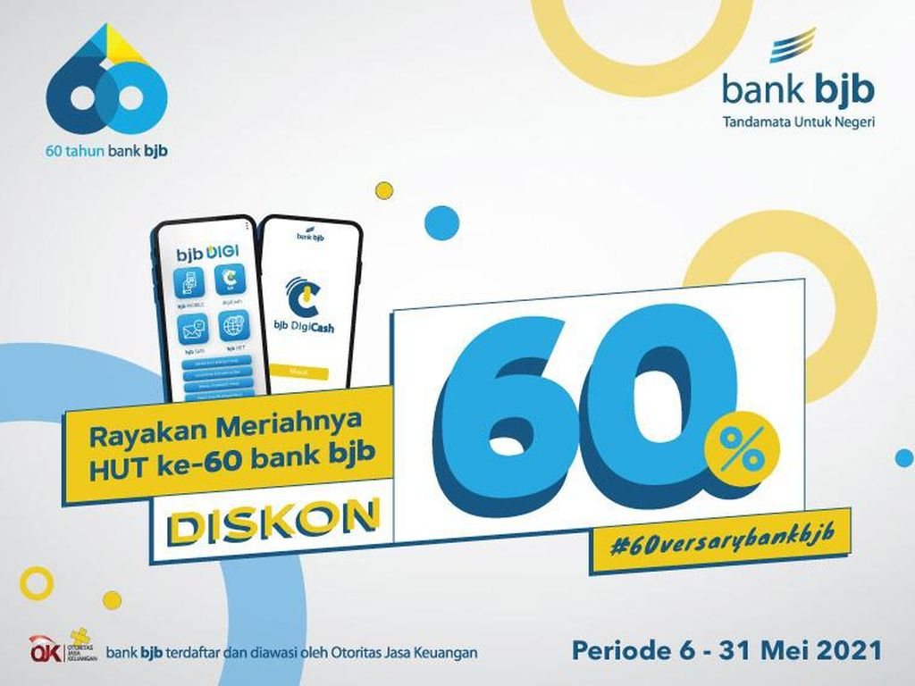 Genap 60 Tahun, bank bjb Gelar Ragam Promo di Ratusan Merchant