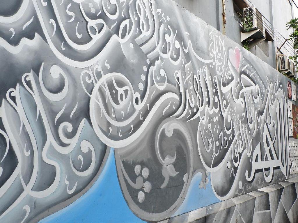 Gang Sempit di Bandung Dicoret-coret Ayat Kursi dan Asmaul Husna