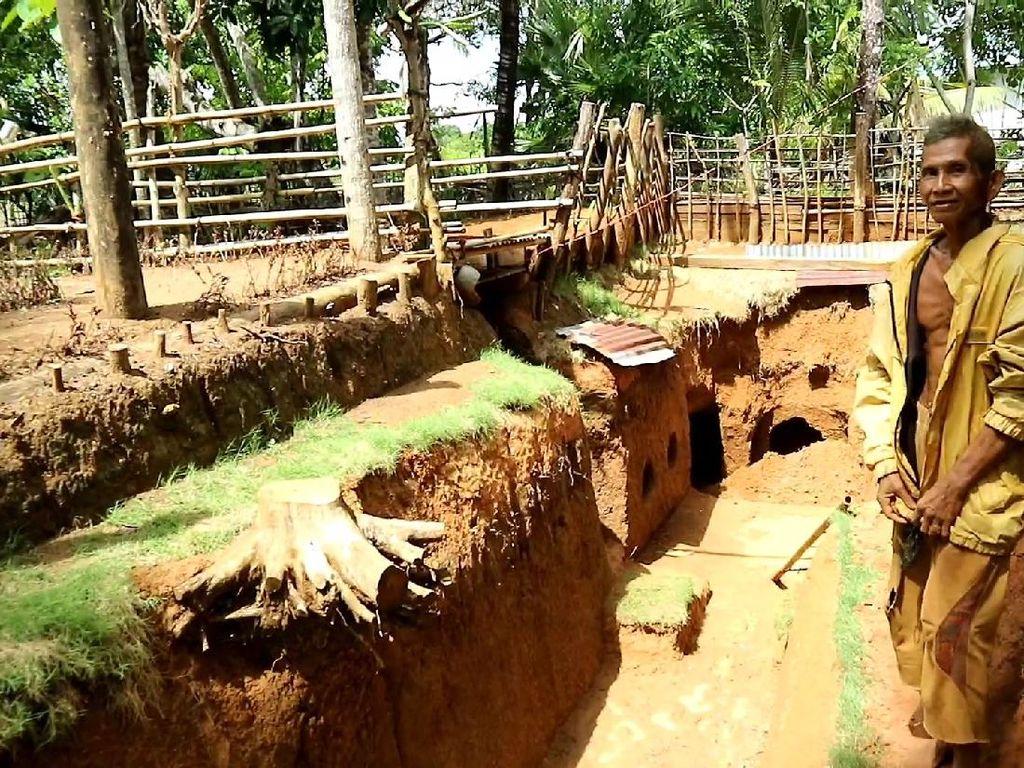 Kabar Terkini Rumah Bawah Tanah Kakek Zainuddin Usai Disetop: Terendam Air
