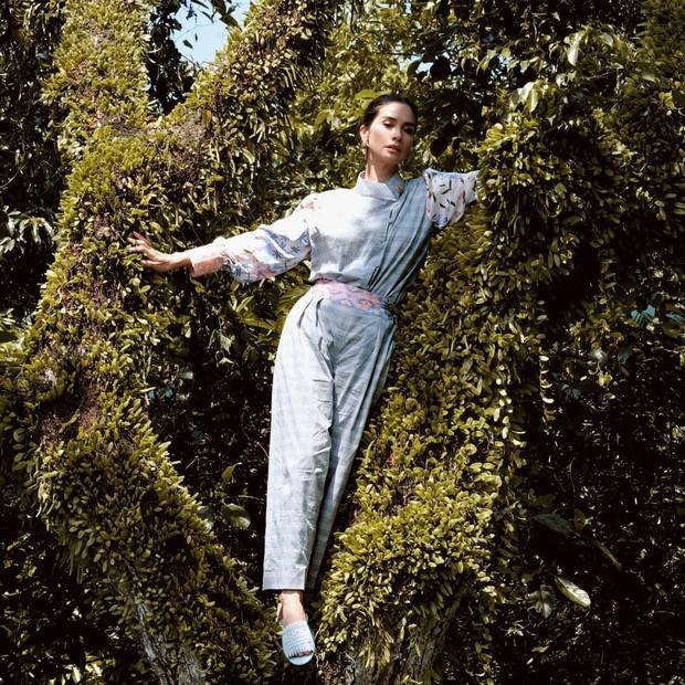 Marsha Timothy tampil cantik dengan setelan kemeja semi shanghai/instagram.com/mynonss