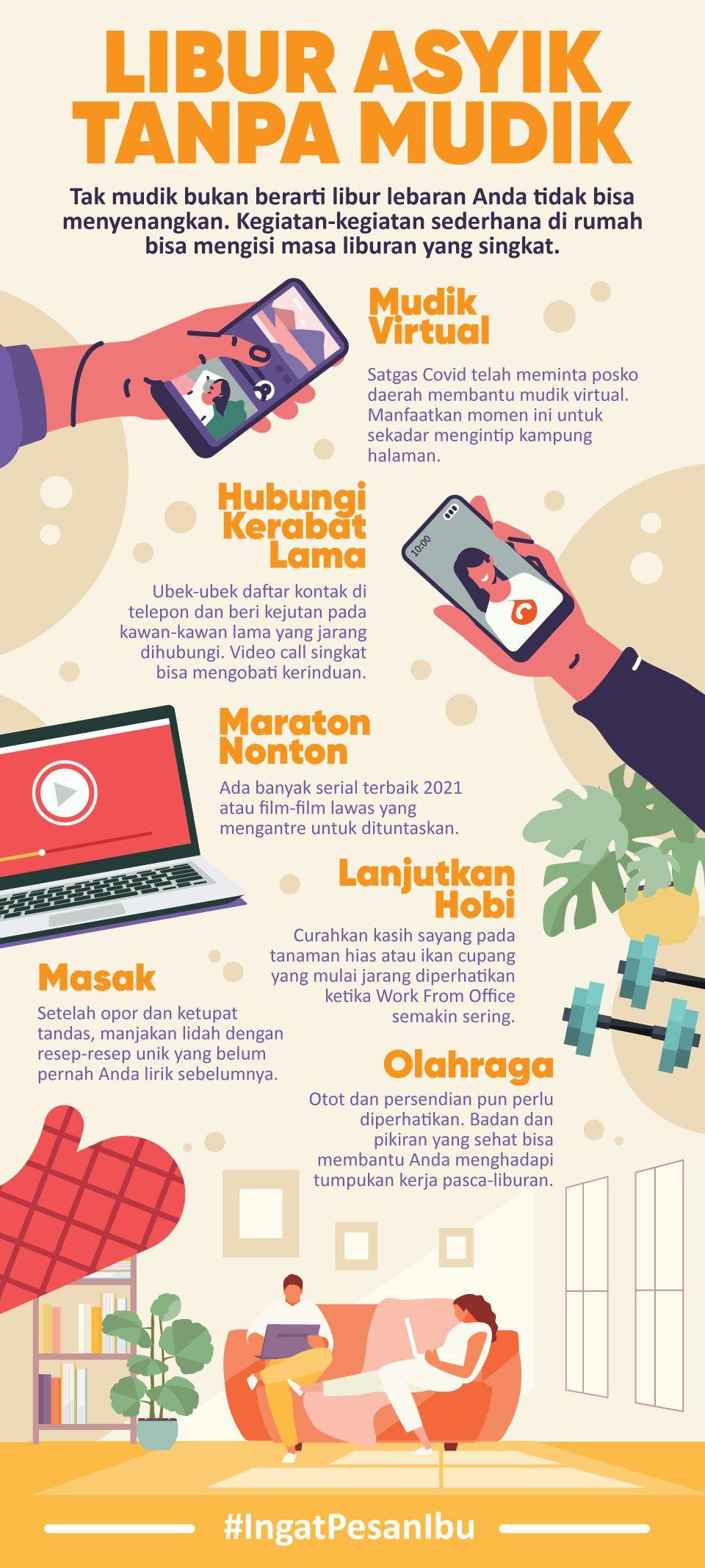 Infografis BNPB Libur Asyik Tanpa Mudik