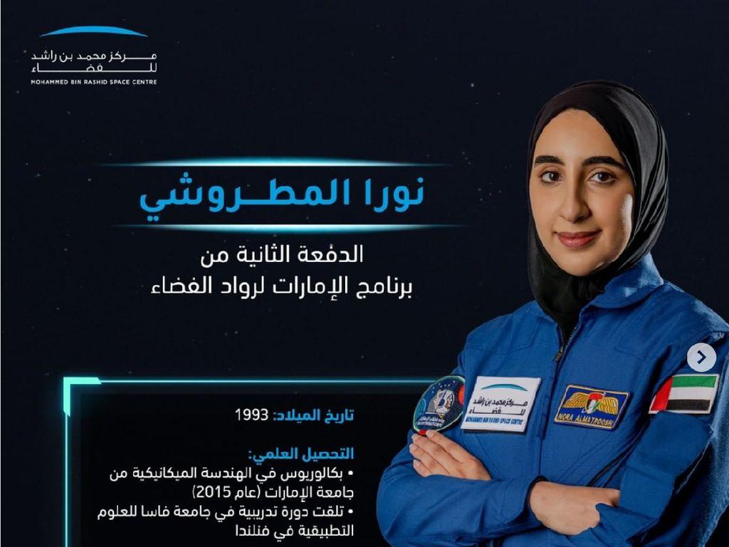 Nora Al Matrooshi, Astronaut Wanita Arab Pertama Siap Mengangkasa