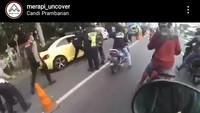 Viral Mobil Terobos Pos Penyekatan-Tabrak Polisi di Klaten