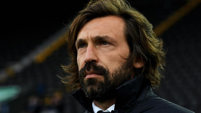 UDINE, ITALY - MAY 02: Andrea Pirlo, Head Coach of Juventus looks on prior to the Serie A match between Udinese Calcio and Juventus  at Dacia Arena on May 02, 2021 in Udine, Italy. Sporting stadiums around Italy remain under strict restrictions due to the Coronavirus Pandemic as Government social distancing laws prohibit fans inside venues resulting in games being played behind closed doors. (Photo by Alessandro Sabattini/Getty Images)