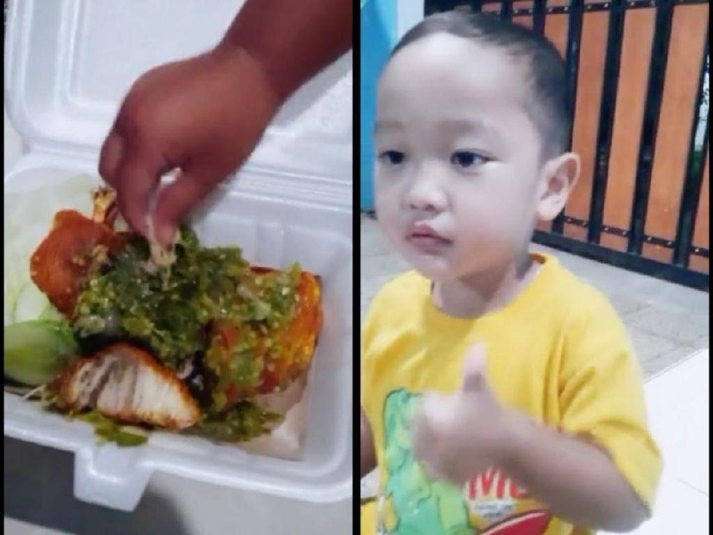 Bocah 3 Tahun Tak Bisa Makan Tanpa Sambal, Netizen: Penerus Tanboy Kun!