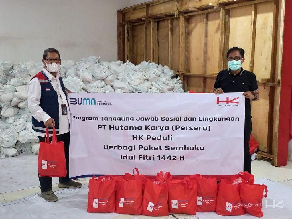 Jelang Lebaran, HK Bagikan 4.850 Paket Sembako ke Anak Yatim dan Duafa