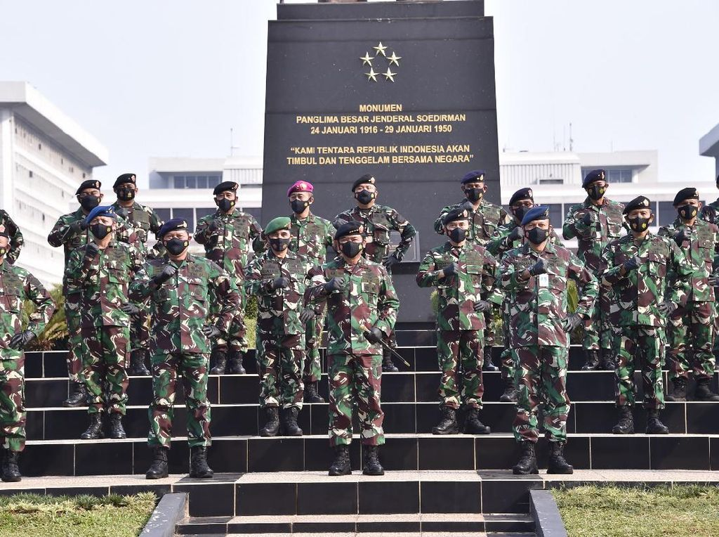 56 Perwira Tinggi TNI Naik Pangkat, Terbanyak dari AD