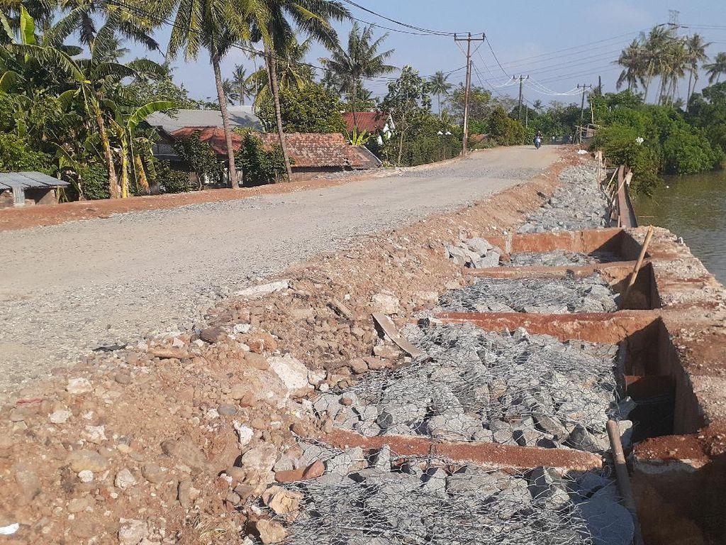 Ada Harapan Bekas Longsor Jl Tanjung Burung Tangerang Diaspal