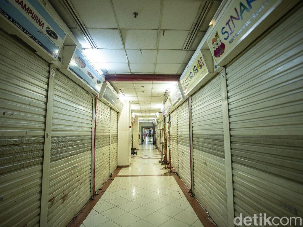 H-1 Lebaran, Pasar Tanah Abang Tutup
