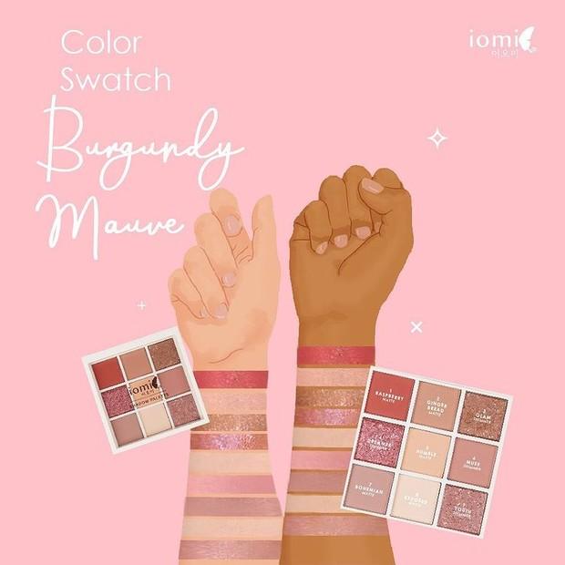 IOMI - Eyeshadow Palette Burgundy Wave.