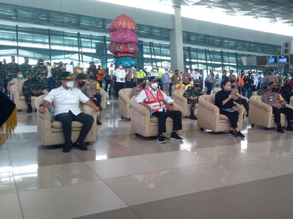 Puan, Panglima, hingga Kapolri Tinjau Larangan Mudik di Bandara Soetta