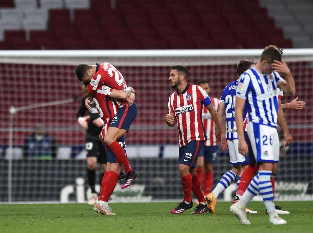 Atletico Vs Sociedad: Menang 2-1, Luis Suarez cs di Ambang Juara LaLiga
